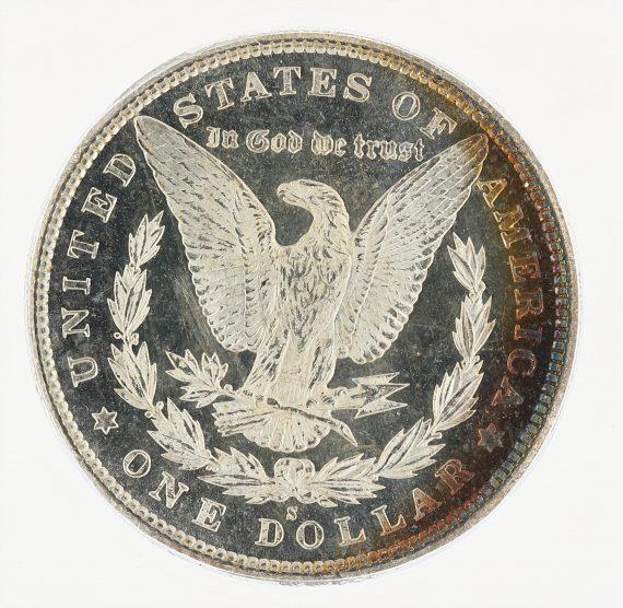 1880-S Morgan Dollar ICG MS67+ S$1 rev zm