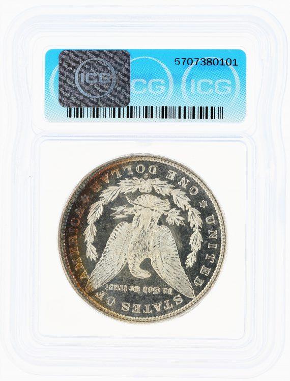 1880-S Morgan Dollar ICG MS67+ S$1 rev