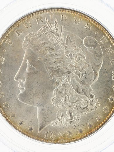 1892 Morgan Dollar PCGS MS64 S$1 obv zm