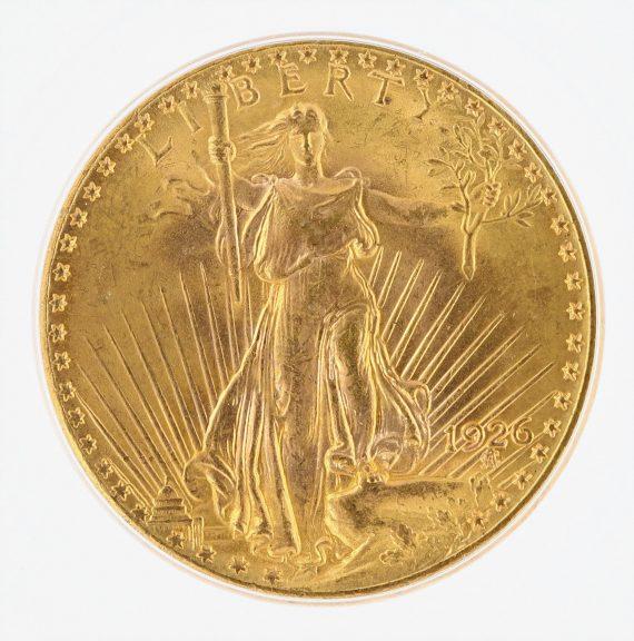 1926 ICG MS67 $20 Saint Gaudens OBV ZM