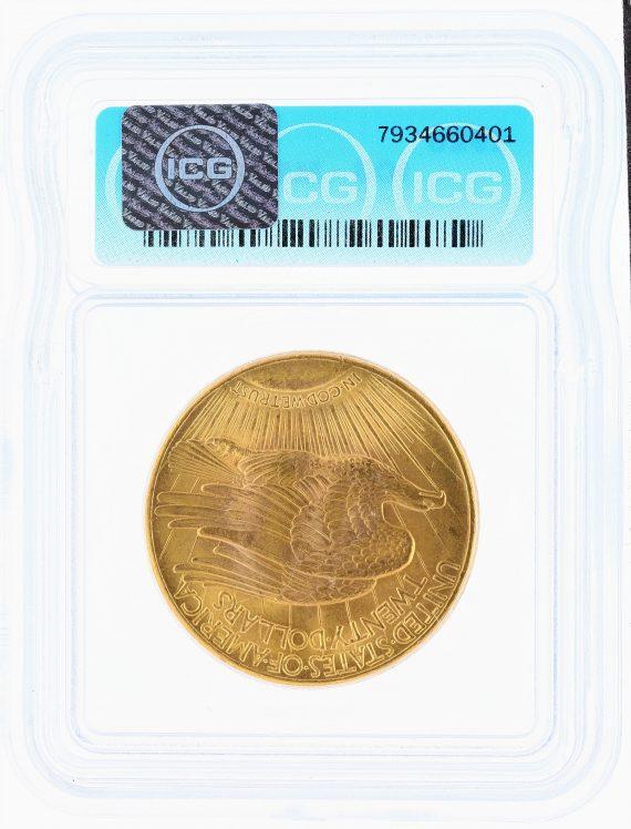 1926 ICG MS67 $20 Saint Gaudens REV