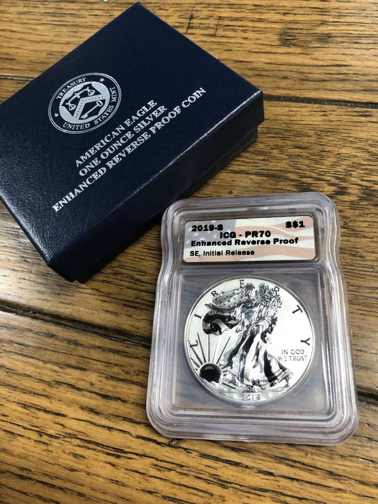 2019-S One Ounce Silver Enhanced Reverse Proof Coin