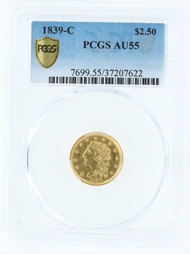 1839-c-pcgs-au55-2-5/07622/obv