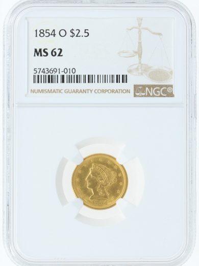 1854-o-ngc-ms62-2-5/91010/obv