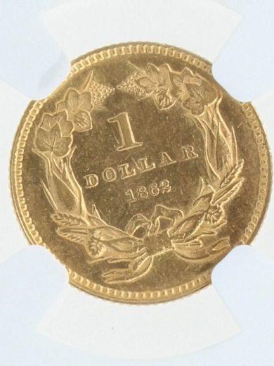1862 NGC MS61 G$1 09001 rev-zm