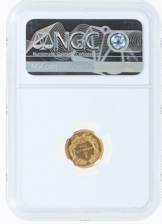 1862 NGC MS61 G$1 09001 rev