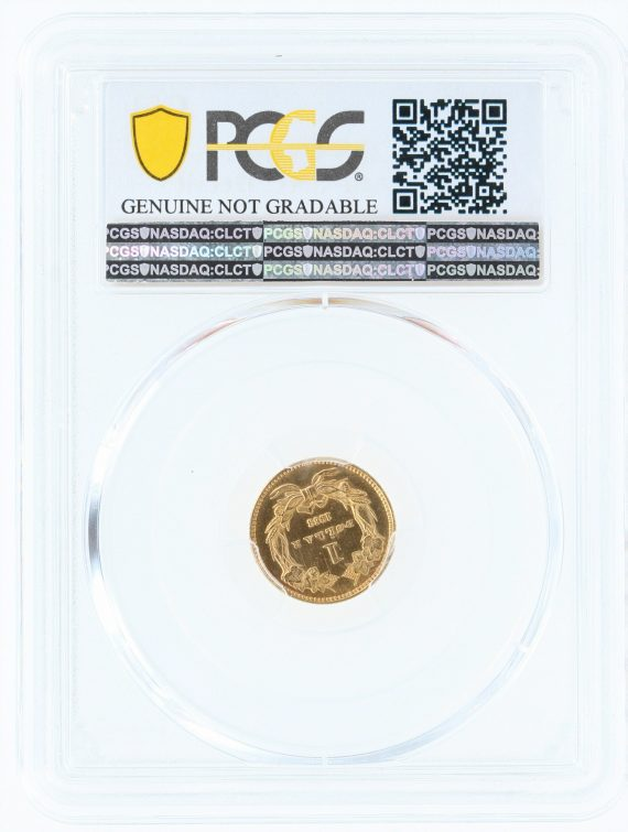 1863 Gold Dollar PCGS 77458 rev