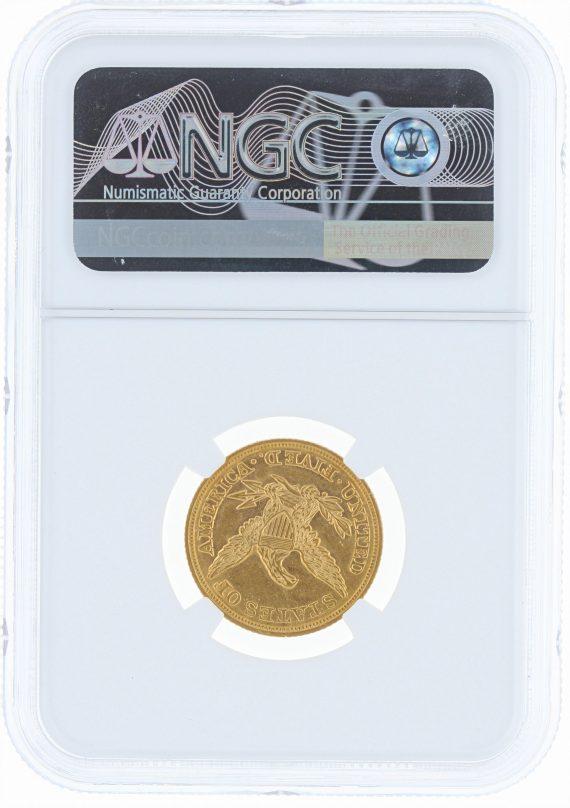 1846 Large Date Half Eagle NGC AU55 $5 rev