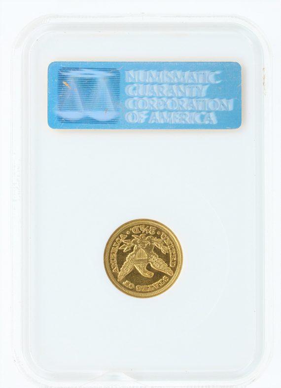 1853-D Quarter Eagle NGC AU53 $2.5 36002 rev