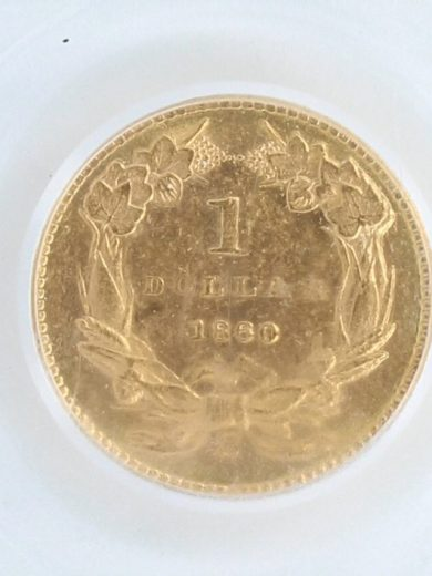 1860-S Gold Dollar PCGS MS61 G$1 rev zm