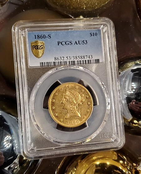 Rare 1860-S Gold Eagle Surfaces