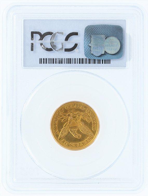 1861-D Half Eagle PCGS AU50 $5 rev