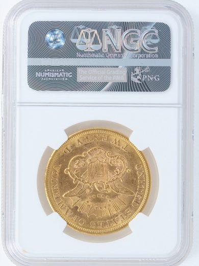 1865-S NGC AU58 $20 27003 rev-27003
