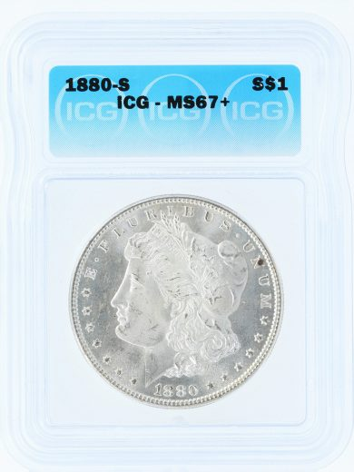 1880-S Morgan Dollar ICG MS67 80101 obv