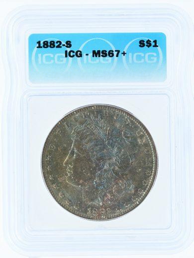1882-S ICG MS64 $1 Morgan 60101 obv