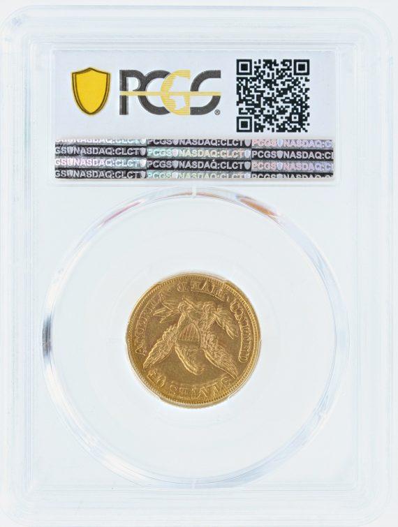 1861 Gold Eagle PCGS AU58 $5 CAC 08599 rev