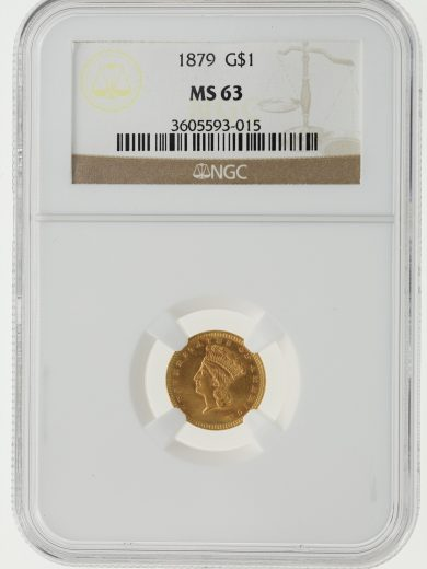1879 Gold Dollar NGC MS63 G$1 obv
