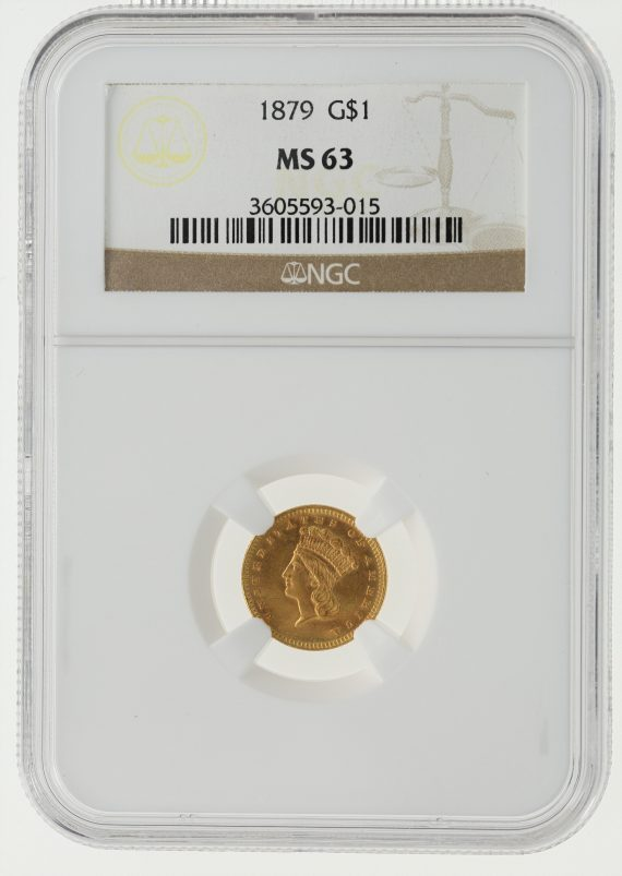 1879 Gold Dollar NGC MS63 G$1 obv