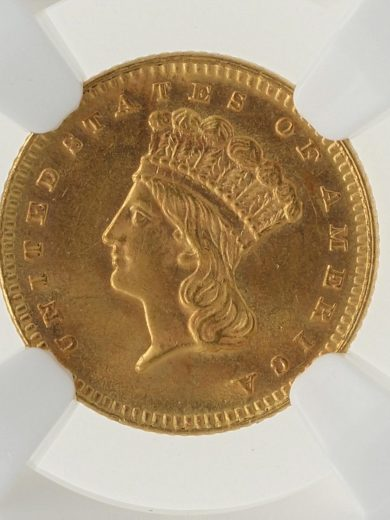 1879 Gold Dollar NGC MS63 G$1 obv zm