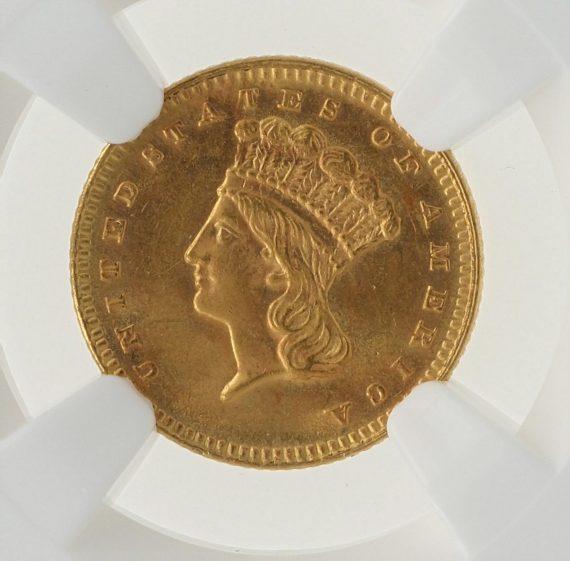1879 Gold Dollar NGC MS63 G$1 obv zm