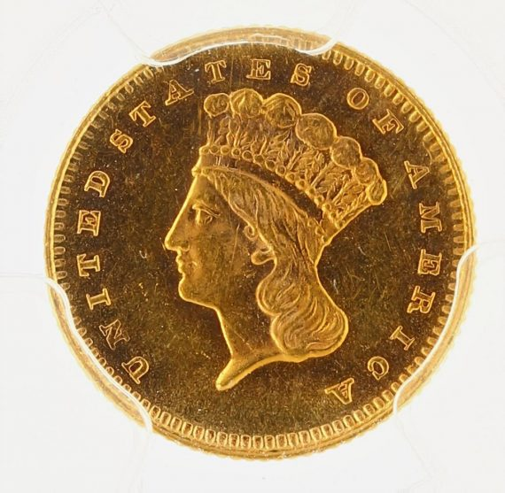 1879 Gold Dollar PCGS MS64 G$1 obv zm