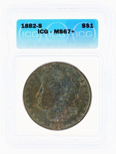 1882-S Morgan Dollar ICG MS67+ S$1 obv