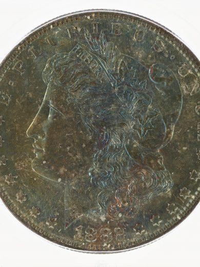 1882-S Morgan Dollar ICG MS67+ S$1 obv zm