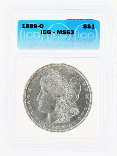 1889-O Morgan Dollar ICG MS63 S$1 obv