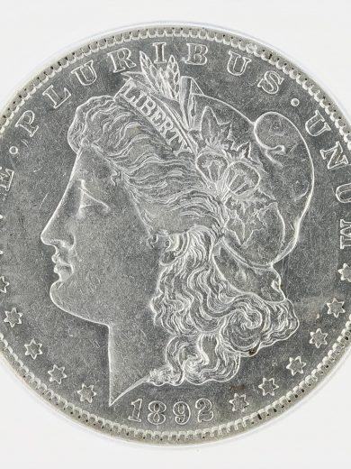 1892-S Morgan Dollar ICG AU50 S$1 obv zm