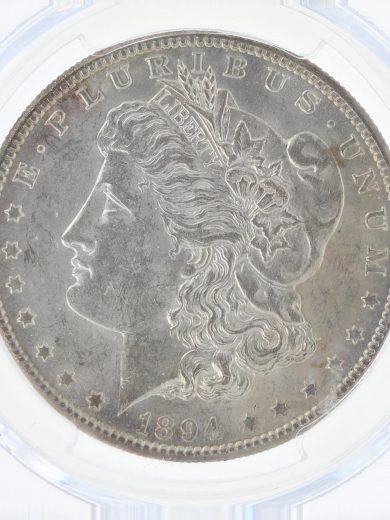1894-S Morgan Dollar PCGS AU58 S$1 obv zm