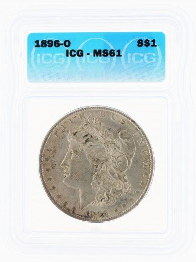 1896-O Morgan Dollar ICG MS61 S$1 obv