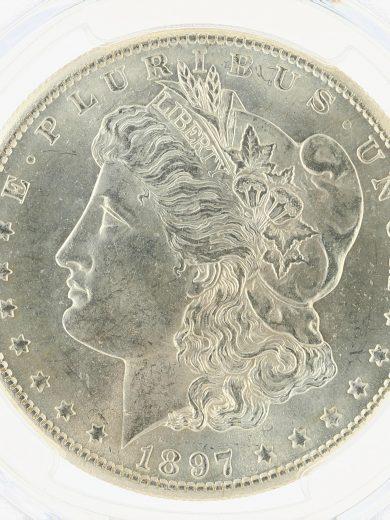 1897-S Morgan Dollar PCGS MS65 S$1 obv zm