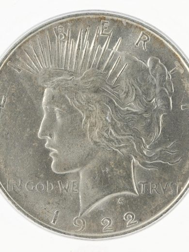 1922-D ICG MS65 Peace Dollar S$1 obv zm