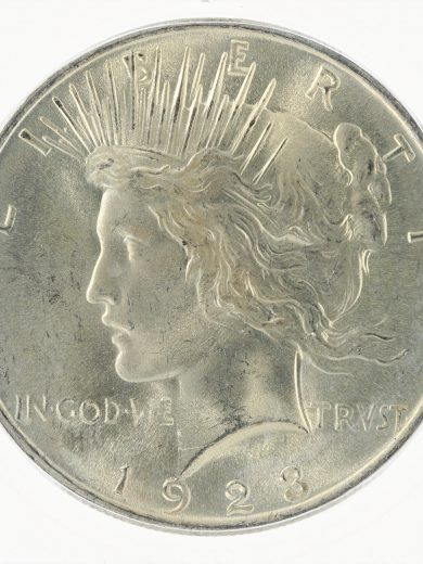 1923 ICG MS67 Peace Dollar S$1 obv zm