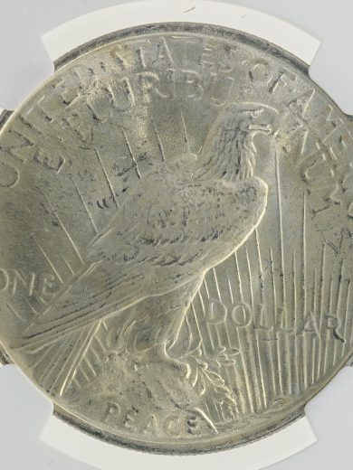 1923 Peace Dollar NGC MS66+ S$1 rev zm