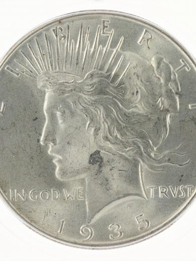 1935 ICG MS65 Peace Dollar S$1 obv zm