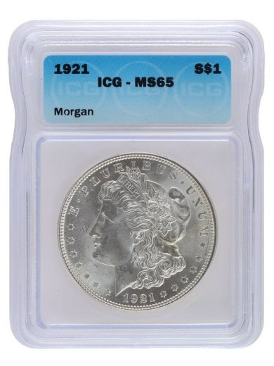 1921 Morgan Dollar ICG MS65