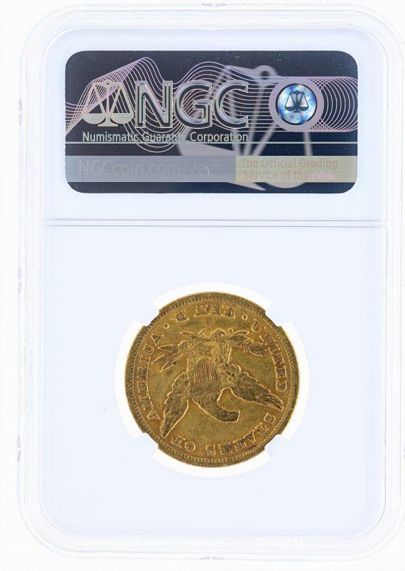1853-O Gold Eagle NGC VF Details $10 Liberty Head rev