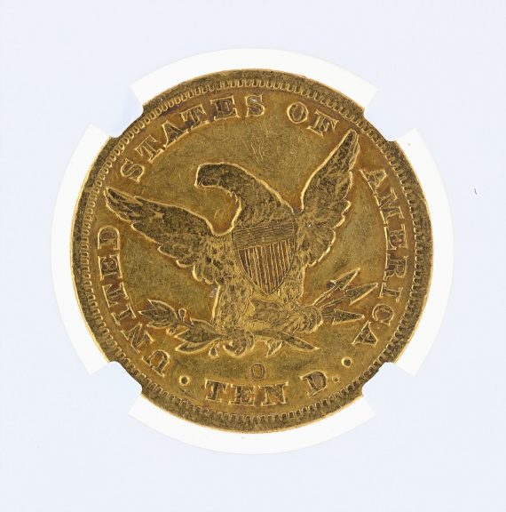 1853-O Gold Eagle NGC VF Details $10 Liberty Head rev zm