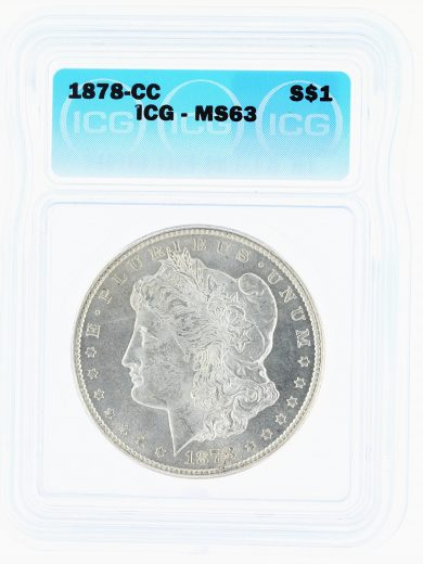 1878-CC Morgan Dollar ICG MS63 S$1 obv