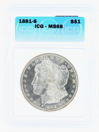 1881-S Morgan Dollar ICG MS68 S$1 obv