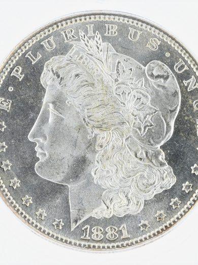 1881-S Morgan Dollar ICG MS68 S$1 obv zm