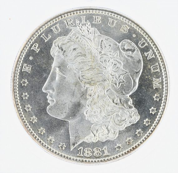 1881-S Morgan Dollar ICG MS68 S$1 obv zm