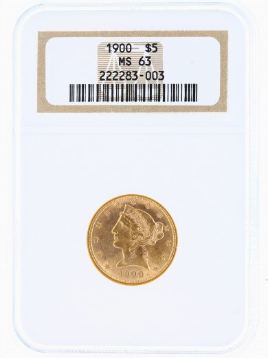 1900 Half Eagle NGC MS63 $5 obv