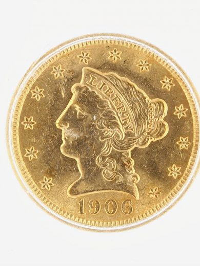 1906 Quarter Eagle ICG MS63 Liberty Head $2.5 obv zm
