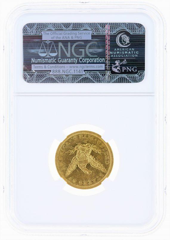 1842-D Small Date Half Eagle NGC AU53 $5 rev