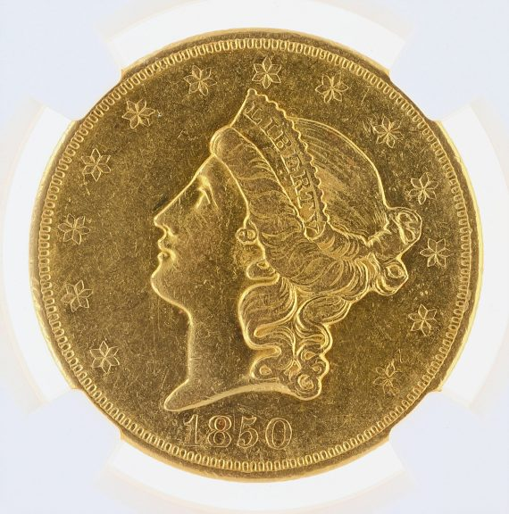 1850-O Double Eagle NGC XF45 $20 Liberty obv zm