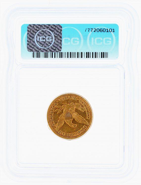 1861-S Half Eagle ICG AU55 $5 rev