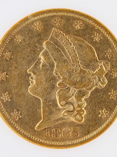 1865 Double Eagle NGC XF45 $20 Liberty obv zm