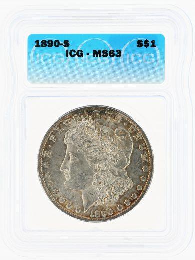 1890-S Morgan Dollar ICG MS63 S$1 obv